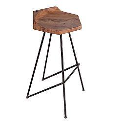 Barová židle se sedákem z masivního dubového dřeva FLAME furniture Inc. Ber-hex