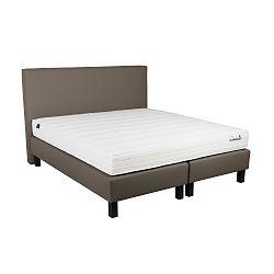 Béžová boxspring postel Revor Domino, 200 x 180 cm