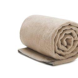 Béžová deka Mumla, 150x200cm