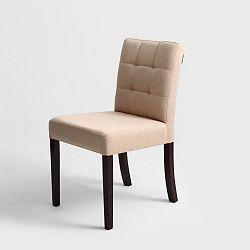Béžová židle s hnědými nohami Custom Form  Wilton