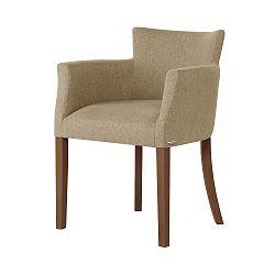 Béžová židle s tmavě hnědými nohami Ted Lapidus Maison Santal