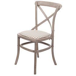 Béžová židle z březového dřeva Livin Hill Venezia