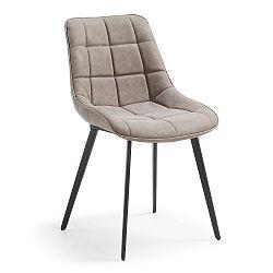 Béžovošedá jídelní židle La Forma Adah