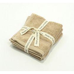 Béžový bavlněný ručník My Home Plus Guest, 33 x 33 cm