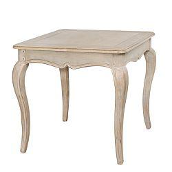 Béžový příruční stolek z březového dřeva Livin Hill Venezia