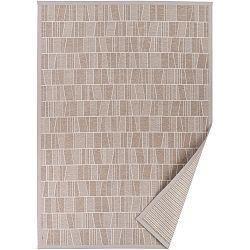 Béžový vzorovaný oboustranný koberec Narma Kursi, 140x200cm