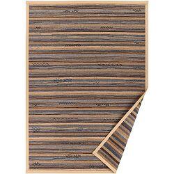 Béžový vzorovaný oboustranný koberec Narma Liiva, 70x140cm
