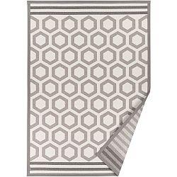 Béžový vzorovaný oboustranný koberec Narma Oore, 140x200cm