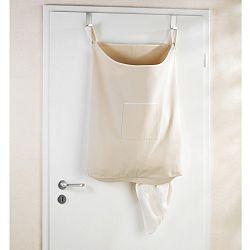 Béžový závěsný koš na prádlo Wenko Door Laundry, 65 l