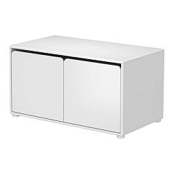 Bílá dětská nízká skříňka Flexa Cabby