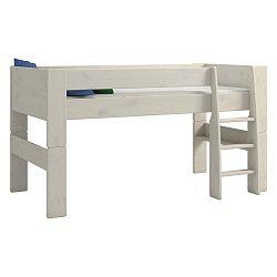 Bílá dětská patrová postel z borovicového dřeva Steens For Kids, výška 113cm