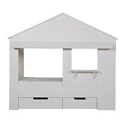 Bílá dětská postel De Eekhoorn Huisie