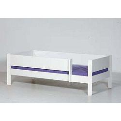 Bílá dětská postel s bezpečnostními postranními pelestmi Manis-h Odin 90x200cm