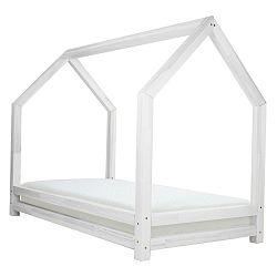 Bílá dětská postel z lakovaného smrkového dřeva Benlemi Funny, 80 x 160 cm