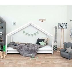 Bílá dětská postel z lakovaného smrkového dřeva Benlemi Sidy, 80 x 200 cm