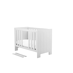 Bílá dětská postýlka Pinio Calmo,120x60cm