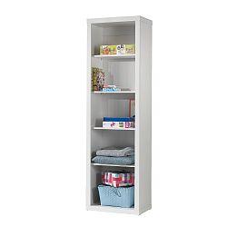 Bílá dětská skříň Vipack Robin, výška 204 cm