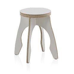 Bílá dětská stolička z překližky Geese, ⌀ 41 cm