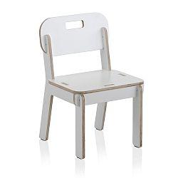 Bílá dětská židle z překližky Geese