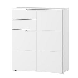 Bílá dvoudveřová komoda se 2 zásuvkami Szynaka Meble Original