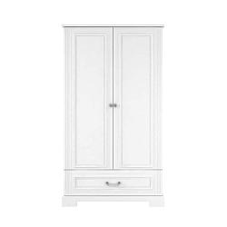 Bílá dvoudveřová šatní skříň BELLAMY Ines