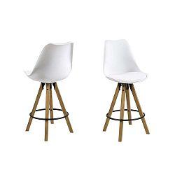 Bílá jídelní židle Actona Dima