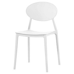 Bílá jídelní židle Evergreen House Simple