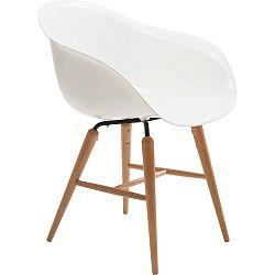 Bílá jídelní židle Kare Design Armlehe Forum