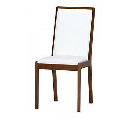 Bílá jídelní židle s čalouněním z umělé kůže Szynaka Meble Malta