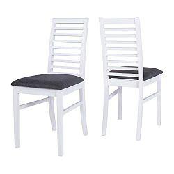 Bílá jídelní židle s konstrukcí z gumovníkového dřeva Canett Gabriel