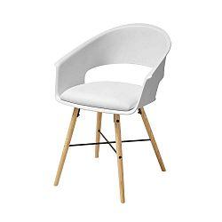Bílá jídelní židle s podnožím z bukového dřeva Actona Ivar