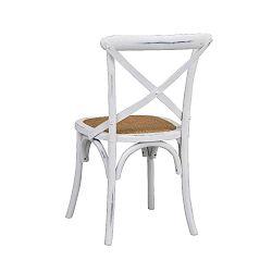 Bílá jídelní židle s ratanovým výletem Folke Gaston