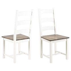 Bílá jídelní židle ze dřeva gumovníku Actona Lyon