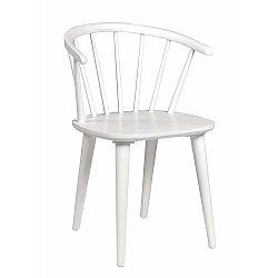 Bílá jídelní židle ze dřeva kaučukovníku Folke Carmen