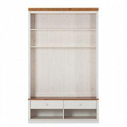 Bílá knihovna s TV komodou z borovicového dřeva s hnědým detailem Støraa Annabelle