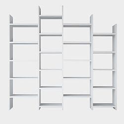 Bílá knihovna Skyler White, výška 192 cm