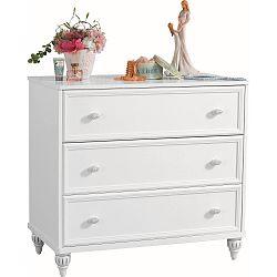 Bílá komoda Romantica Dresser