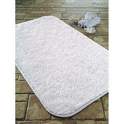 Bílá koupelnová předložka Confetti Bathmats Cotton Calypso, 50 x 80 cm