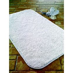 Bílá koupelnová předložka z bavlny Confetti Bathmats Calypso, 57 x 100 cm