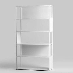 Bílá kovová knihovna Custom Form Hyller Side