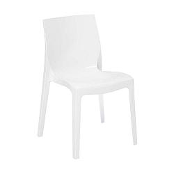 Bílá lesklá židle Evergreen House Felix