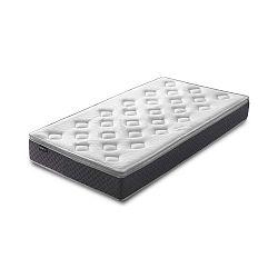 Bílá matrace s šedým okrajem Bobochic Paris Fraicheur,90x190cm