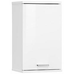 Bílá nástěnná dřevěná koupelnová skříňka Støraa Rhonda