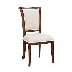 Bílá polstrovaná buková jídelní židle Folke Amore