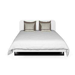 Bílá postel s černými nohami TemaHome Mara, 180 x 200 cm