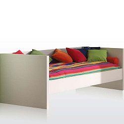 Bílá postel Vipack Lara, 90 x 200 cm