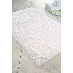 Bílá předložka do koupelny Confetti Bathmats Afrodis, 60x100cm