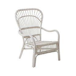 Bílá relaxační židle z ratanu Premier Housewares Havana