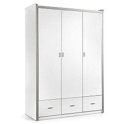 Bílá šatní skříň Vipack Bonny, 202 x 140,5 cm