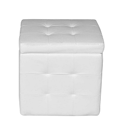 Bílá taburetka s úložným prostorem Evergreen House Multi